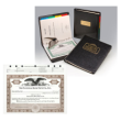 Ohio Profit Corporation Record Book with 50 PERSONALIZED Stock Certificates and Indestructible Pocket Style Corporate Seal Embosser