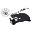 This product is a standard in Ohio for Notary Publics.  It works just like the Hand Held Ohio Notary Seals, except it has small rubber feet on the bottom so that its rests on a flat surface.  This is a great product for people with weak wrist grip.
