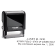 SELF INKING CONNECTICUT NOTARY STAMP