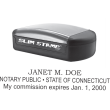 SLIM STYLE CONNECTICUT NOTARY STAMP, slim stamp 1854