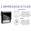 81140CTN - CONNECTICUT COMBO STAMP & SEAL, SELF-INKING