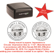 81153 - CIRCULAR STYLE COMBO STAMP AND SEAL (STAMP)