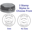 CONNECTICUT TRAVEL STYLE ROUND NOTARY STAMP