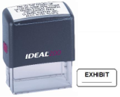 Exhibit Stamper, Self Inking Black