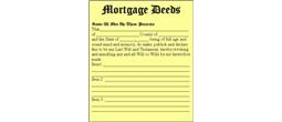 Mortgage Deeds