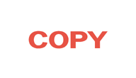 Copy stamp in red ink X-Stamper, you will be impressed with the ease of stamping and the super impressions they make, re-ink indefinitely with X-Stamper ink, one color title stamps are a great value, stock stamps are already made and ready to ship,  x sta