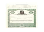 8 1/2 X 11, Green, With,Par Value, Ohio State Seal Stock Certificate
