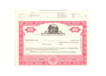 8 1/2 X 11, Red, With,Par Value, Ohio State Seal Stock Certificate