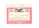 8 1/2 X 11, Red, With Par Value, Eagle Vignette Stock Certificate