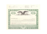 8 1/2 X 11, Green, Limited Liability Company Certificate
