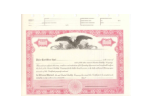 8 1/2 x 11, Red,  Limited Liability Company Certificate