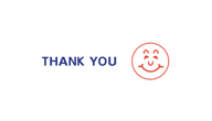 Thank you stamp with Smiley face in red and blue ink by X-Stamper, 2 colors for added attention!, be impressed with the ease of stamping and the super impressions they make, re-ink indefinitely with X-Stamper ink, two color title stamps are a great value,