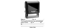 Notary Public Acknowledgment Stamp