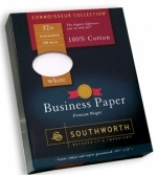 100% Cotton Content Paper, White, by Southworth., 8 1/2 x 11, 32 lb., Date Coded