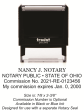 Ohio Self Inking Notary Stamp designed for use with a separate Ohio Notary Seal.