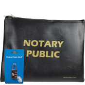 Notary Zippered Supplies Bag, Notary Bag, Notary Pouch, Notary Zippered Bag, Notary Public Supplies Bag
