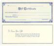14910 - GC - GIFT CERTIFICATE