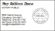 BC-INDIANA - INDIANA NOTARY PUBLIC BUSINESS CARDS