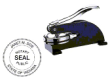 81014IN - PERSONALIZED INDIANA DESK STYLE NOTARY SEAL (EMBOSSER)