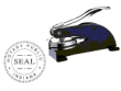 81013IN - DESK STYLE INDIANA NOTARY SEAL (EMBOSSER)