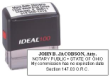 81135 - IDEAL SELF-INKING NOTARY STAMP (ATTORNEY)