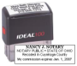 81130 - IDEAL SELF-INKING NOTARY STAMP (REGULAR NOTARY)