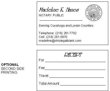 customer reviews - Notary Business Cards