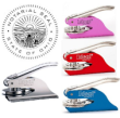 The Ohio hand held or pocket style notary seal embosser crimps the paper leaving a raised impression.  This is the best the tool as a deterrent against fraud. Ships same busines day!