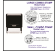 This self inking stamp has the Ohio Seal on the left side and your name, notary public, state of ohio and your expiration date on the right.  Meets specific State of Ohio Code.