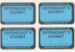 DS- - DEFENDANT EXHIBIT STICKERS