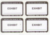 EXHIBIT STICKERS