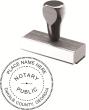 81100GAN - WOOD HANDLE ROUND STYLE NOTARY STAMP (REGULAR NOTARY)