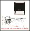 The required stamp an Ohio Attorney needs to comply with Ohio Senate Bill 263. Ships Next Business day.