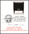 This self inking stamp has the Ohio Seal on the left side and your name, notary public, state of Ohio and your expiration date on the right.  Meets specific State of Ohio Senate Bill 263.