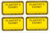 PLAINTIFF EXHIBIT STICKERS
