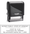 SELF INKING VERMONT NOTARY STAMP