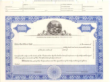 8 1/2 X 11, Blue, With Par Value, Ohio State Seal Stock Certificate