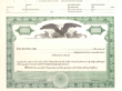 8 1/2 X 11, Green, Without Par Value, Eagle Vignette Stock Certificate